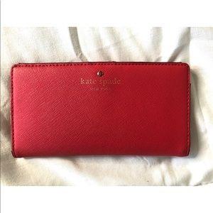 Kate Spade Hot Pink Wallet W/Polka Dots Inside